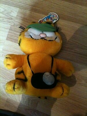 """Garfield Plush Soft Toy With Camera 9"""" Tall"""
