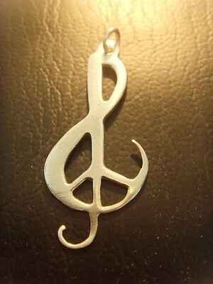 Woodstock 1969 hippie Music Festival Necklace pendant 69 sterling silver 925