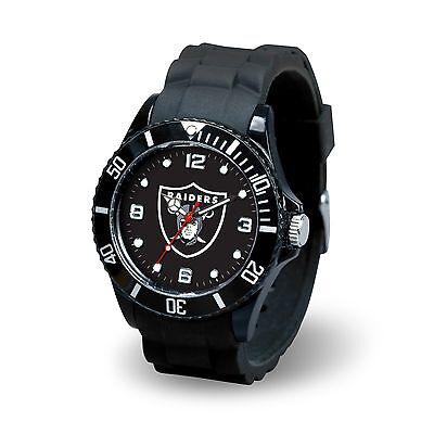 Oakland Raiders NFL Football Team Men's Black Sparo Spirit Watch