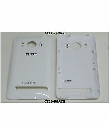 Used OEM HTC Evo 4G Sprint White Standard Replacement Battery Back Cover Door