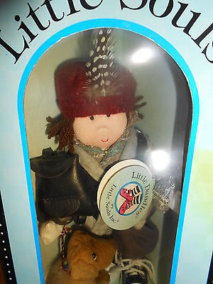 Little Dandles ERIC Cloth Doll with Hang Tag AND DOG AUGGIE Little Souls c1998