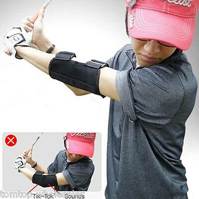 Golf Swing Training Straight Practice Golf Elbow Brace Corrector Support Arc New