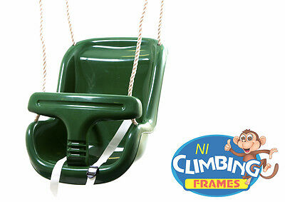 GREEN Baby Toddler Deluxe Swing Seat Climbing Frame Set Tree Den Jungle Gym