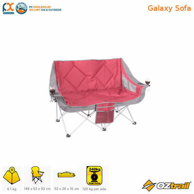 IN STOCK OZtrail Double Moon Galaxy Sofa Chair Arms Rated 240kg Camping twin
