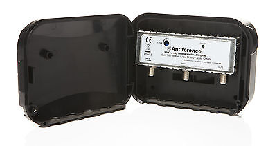 Antiference MHK2LTE 2 Way Variable Gain Masthead Amplifier and Power Supply