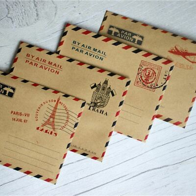 Mini Vintage Par Avion Airmail Envelopes x 40 - Favours / Scrapbooking Craft