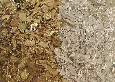 2 POUNDS of MILAGROS + 1000 pieces gold and silver color   mexican folk art