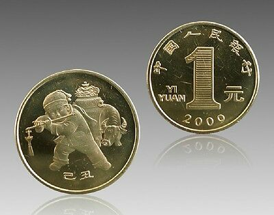 2009 China commemorative coin -  1 Yuan (Year of the ox). UNC 1PCS.