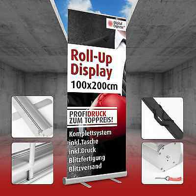 Roll up Display Banner Display inklusive Druck 100 x 200 cm - inkl Tragetasche