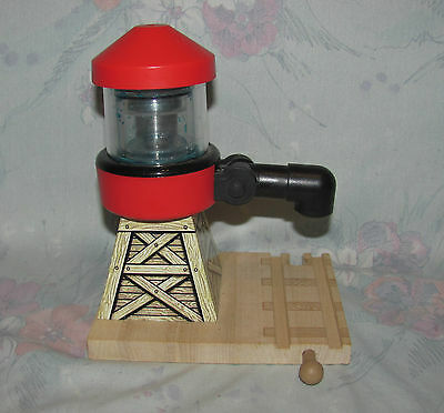 Thomas Tank Engine Wooden Train Set Part - Water Tower - Red - Track Base 2001