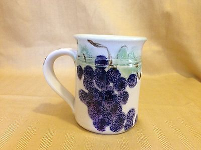 Mint Clouds Folsom Pottery Mug 1989 2001 #1 Grapes and Leaves Signed and Dated