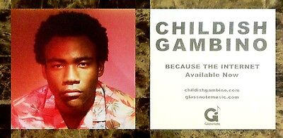 CHILDISH GAMBINO Because The Internet Ltd Ed RARE Sticker +FREE Hip-Hop Stickers