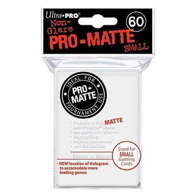 60 ULTRA PRO SMALL PRO-MATTE WHITE DECK PROTECTORS SLEEVES Yugioh Vanguard Matte