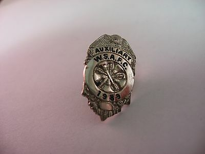 Vintage 1989 WSAFC W.S.A.F.C. Washington Assc. of Fire Chiefs Badge Design Pin