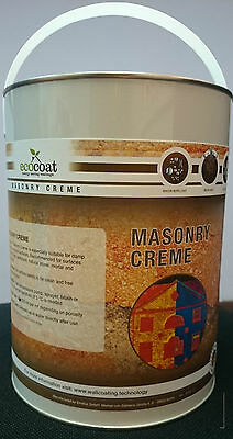 Ecocoat Masonry Protection Cream waterproofer goes on white dries clear!