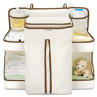 Munchkin Nappy Baby Change Organiser Storage Cot Crib Hanger Wipes Diaper New JF