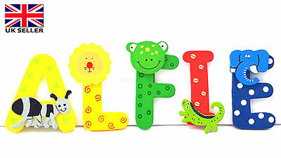 Fun Colourful Animal Wooden  Alphabet Letters Personalised Name Gift Set/ Toys
