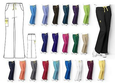 Wonder Wink Romeo 5026 Flare Leg Cargo Scrub Pant All Sizes&Colors Free Shipping