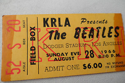 BEATLES 1966 Original CONCERT Ticket STUB - Los Angeles