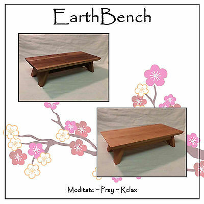 Miniature Shrine Table Altar by EarthBench ~ Choose from 5 wood types. Beautiful