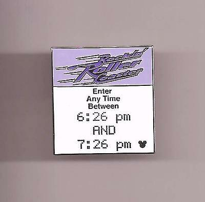 WDW CAST LANYARD COLLECTION 4 FASTPASS MGM ROCK 'N' ROLLER COASTER DISNEY PIN
