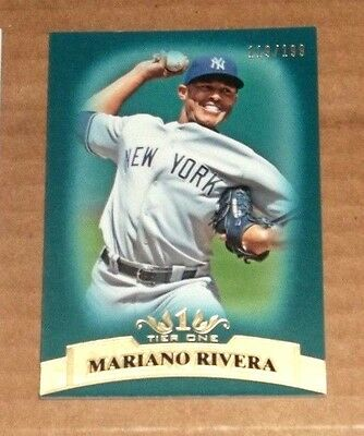 2011 Topps Tier One #63 Mariano Rivera Blue 119/199 Yankees