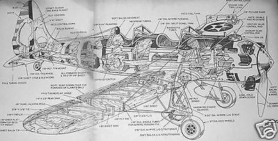"""Model Airplane Plans: RYAN PT-22 by Frank Beatty • 36"""" UC  .23-.25 + MAN article"""