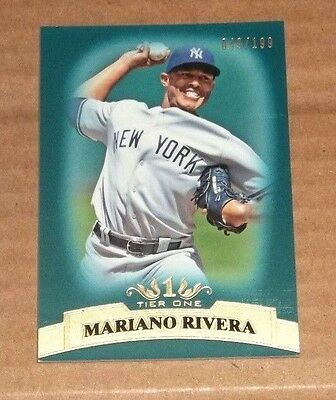2011 Topps Tier One #63 Mariano Rivera Blue 49/199 Yankees