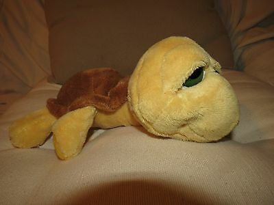 Russ Lil Peepers Plush SHELLY TURTLE -Big Eyes - Yellow/Brown