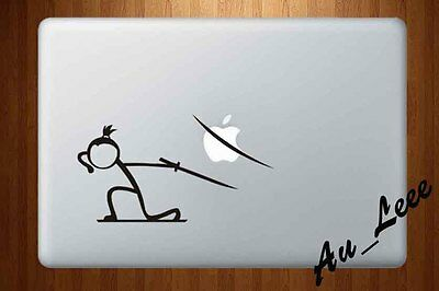 Macbook Air Pro Vinyl Skin Sticker Decal Stick Figure Samurai Sword Ninja M438