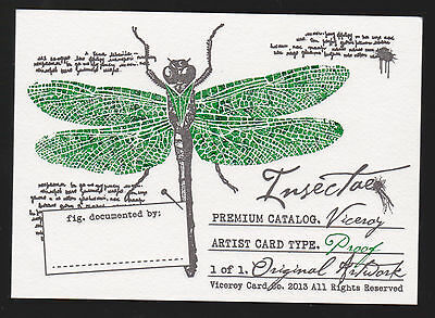 Insectae AP Commission Original ACEO Sketch Card Clinton Yeager