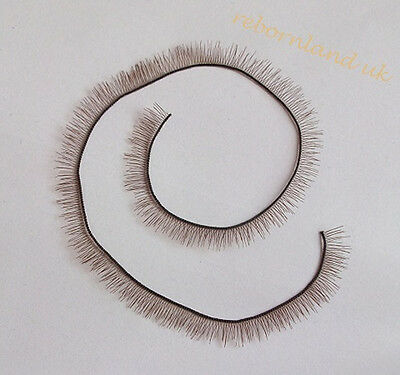 Brown Eyelash For Reborn Baby Doll BJS SD Baby doll parts 20cm length 6mm wide