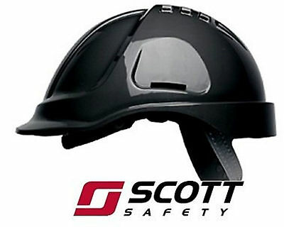 Scott Protector Hc600V Safety Helmet Hard Hat - Black & White