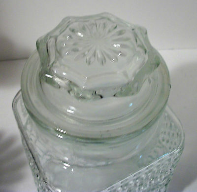 ANCHOR HOCKING Lg  Kitchen CANISTER Clear Glass Cookie Jar Rubber Seal #3