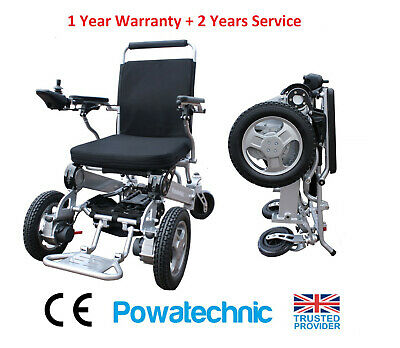 Light Weight Yellow Folding Electric Wheelchair Powerchair Mobility chair