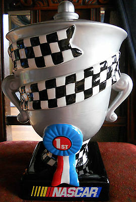 2002 Nascar Trophy Cookie Jar Gibson Excellent Used Condition