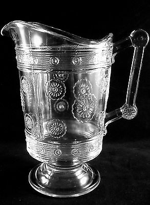 BEAUTIFUL NEAR MINT ROSETTE MILK PITCHER BRYCE BROTHERS 1880s AESTHETIC MOVEMENT