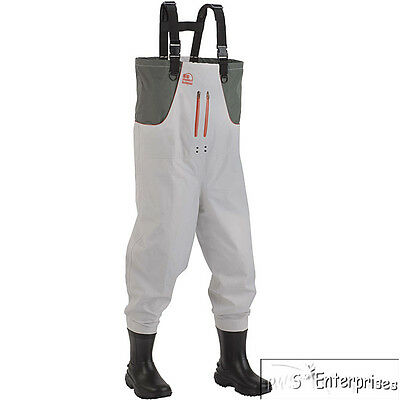 Hodgman Cedar Run breathable insulated no slip sole boot chest waders 13 NEW7540