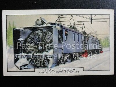 Single: SWEDISH SNOW PLOUGH - No.42 TRAINS OF THE WORLD - Gallaher Ltd 1937