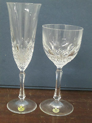 Peill Beatrice famous German crystal 1-wine , 1-flute all new perfect