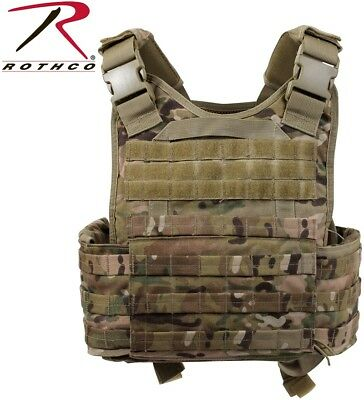 Multicam Plate Carrier Tactical Vest ( Armor not included ) Rothco 8928