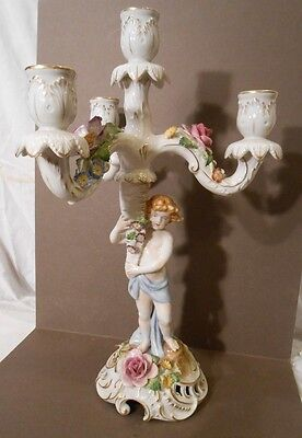 Schierholz triple candleabra holder, very detailed 15 1/4 inches