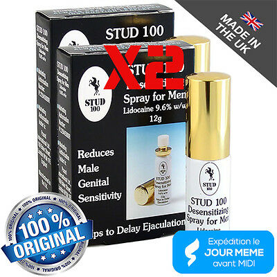 Stud 100 spray facilitateur d'érection L'ORIGINAL MADE IN UK lot de 2