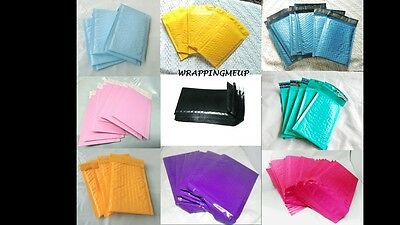 100 NEW -4x8 Bubble Mailers, Any Color Option, Padded Mailing/Shipping Envelopes