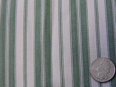 """Vintage Country Green White Stripe SOFT Brushed Cotton Home Decor Fabric 74""""x47"""""""