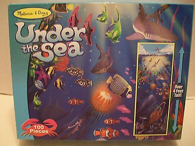 """Melissa and Doug #443 """"Under The Sea""""  Extra Large 100 Piece Floor Puzzle"""