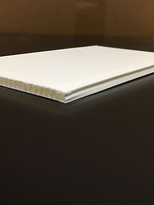 4mm White 24 x 48 (10 pack) Corrugated Plastic Coroplast Sheets Sign