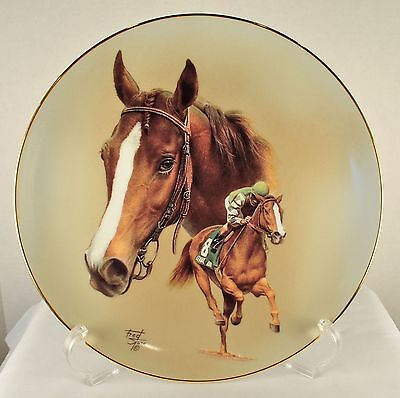 """""""GENUINE RISK"""" FRED STONE PLATE 10-1/4"""" DIAM, IN BOX WITH COA #2498 of 9500 MADE"""