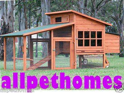 Chicken Coop Hen house Chook Hutch Cage LARGE NEW STYLE G109