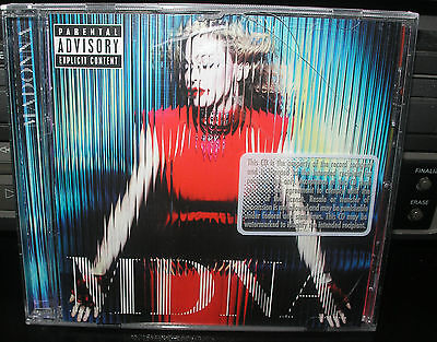 MADONNA MDNA STICKER & BARCODE HOLE PROMO CD GIRL GONE WILD-GIVE ME ALL YOUR LO